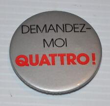 AUDI QUATTRO vintage PINBACK / PIN 1980s Canada
