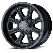 22 Inch Grey Black Wheels Rims Moto Metal MO984 SHIFT 20x14 8x6.5 8 Lug Set of 4