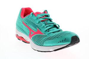 Mizuno Wave Sayonara 3 R539B Womens Green Mesh Lace Up Athletic Running Shoes 8