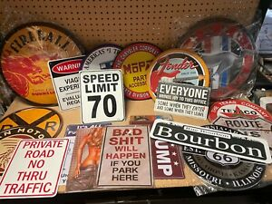 Instant Man Cave! Lot of 20 different signs ~ Fireball, Ford, Garage, Bar Beer
