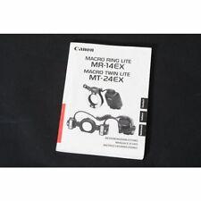 Canon MR-14 EX / MT-24 EX Makroringblitz Bedienungsanleitung Gebrauchsanweisung