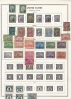 United States Proprietary Stamps 1871- 1919 Old Album Page  Ref 45585