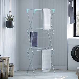 Airer Rack 3 Tier Clothes Stand Laundry 14M Dryer Space Garden Outdoor Indoor