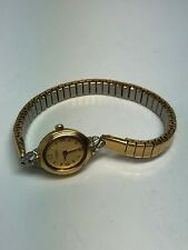 Caravelle By Bulova Ladies Stainless Steel Gold Tone Quartz Watch