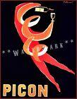 Amer Picon 1952 Liquor Beverage Vintage Poster Print Retro Advert French Drinks