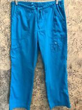 WHITE CROSS 331P scrub pants medical dental nurse vet XS blue cargo leg pockets