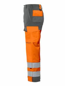 Projob Hi Vis Work Trousers with Kneepad Pockets. Class 2  - 646501