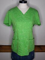 Greys Anatomy Women's Scrub Top Green Size Medium Medical Work Short Sleeve