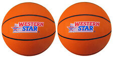(2Pcs) Official Size & Weight Durable Rubber Basket Ball *Orange*