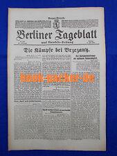 BERLINER TAGEBLATT (6.7.1917): Die Kämpfe bei Brzezany