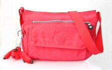 NWT Kipling Syro Cross-body Bag With Furry Monkey Deep Neon Pink