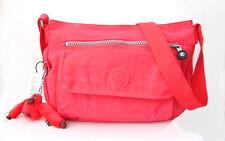 NWT Kipling Syro Cross-body Bag With Furry Monkey Deep Neon Pink