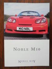 NOBLE MOY AUTOMOTIVE M10 V6 Rare 1999 UK Market Sales Brochure