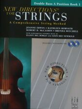 New Directions for Strings, Double Bass A position Book 1 with 2 Cds