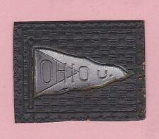 c1910s tobacco leather Ohio University 2 tone colored pennant
