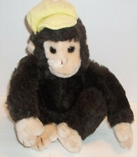 Jerry Elsner 11 Inch Brown MONKEY Yellow Hat Made in Korea Vintage