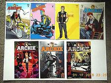 ARCHIE COMICS ARCHIE #1 - 7 VARIANT COVERS COMIC BOOK SET!