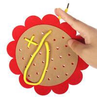 Kids Sunflower Non-woven Threading Toys Basic Survival Skills Educational Toy