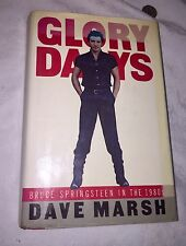 "bruce springsteen 1st Edition ""Glory Days"" Illustrated Hcdj"