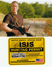 NAVY SEAL 6 E.Greitens Commander Al Qaeda Targeting Unit SIGNED Hunting Permit