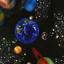 SPACE on black~by 1/2 yd~Timeless Treasures fabrics~C8219- PLANETS Solar System