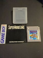 NINTENDO GAMEBOY SUPER MARIO LAND WITH MANUAL & PROTECTIVE COVER CASE TESTED