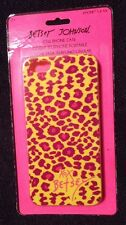 Betsy Johnson CELL PHONE CASE For iPhone 5 & 5S Yellow Pink Purple Animal Print