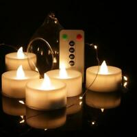 LED Candle Lights 6 Keys Electronic Remote Control Rechargeable Tea Light Flamel