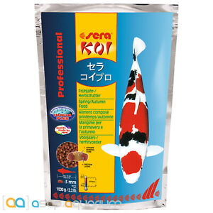 sera Koi Professional Spring Autumn Food 1000 grams 3mm Pellets Koi Fish Food
