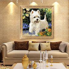DIY 5D Diamond Cute Puppy Dog Painting Embroidery Cross Craft Stitch Kit Decor