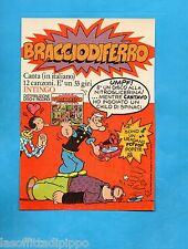 TOP975-PUBBLICITA'/ADVERTISING-1975- RICORDI - DISCO 33 GIRI BRACCIO DI FERRO