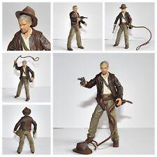 "Indiana Jones Movie (Harrison Ford) 3.75"" Toy Figure Fouet, Fedora, arme et sac"