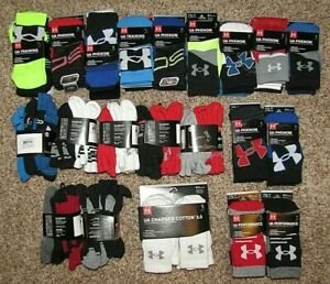 Boys Under Armour Socks Shoe Size 13.5-4/1-4 Phenom Performance