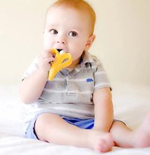 Baby Teething Teether Safe BPA Free Banana Teething  Silicone Chew Dental Care