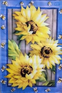 Country Sunflowers Standard House Flag by Evergreen, Colorfast , #3587