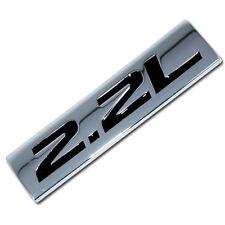 CHROME/BLACK METAL 2.2L ENGINE RACE MOTOR SWAP EMBLEM BADGE FOR TRUNK HOOD DOOR