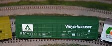 HO scale Life Like Weyerhaeuser all door car train