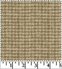 Shadow Play  Woolies  Flannel - Tan Houndstooth F18503-T