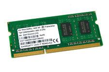 TRANSCEND 4 GB DDR3L 1600 MHz PC3L-12800S 1Rx8 SO-DIMM Memoria RAM para computadora portátil 204-PIN