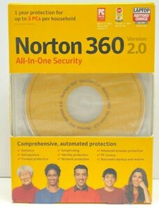 Norton 360 Version 2.0 All-In-One Security CD - Computer Security