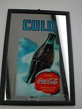 COCA-COLA GLACE MIROIR AVEC LE CADRE LA BOUTEILLE COLD 1999