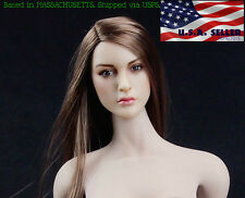 "1/6 European American Female Head sculpt Kimi Toys KT005 For 12"" Hot Toys Phicen"