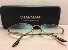 Charmant Titanium RX eyeglasses Half-metal Rim 51-19-140 CH8281 Metal Frame