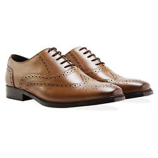 Redfoot UK 8 Hommes Marron cuir Oxford Richelieu à élégant Formel Travail Lacets Chaussures