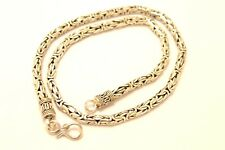 """925 Sterling Silver 5 mm Bali Chain / Byzantine Necklace. 73 grams, 52 cm/20.5"""""""