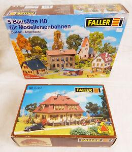 FALLER ARGERBACH BAUSATZ 5 Häuser + SIEDLUNGSHAUS B-367 Spur H0