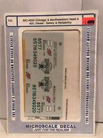 HO Microscale decals MC-4188 Northwestern Pacific Diesel Locomotives Black Schem