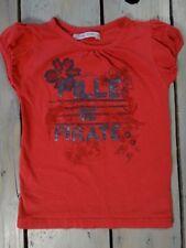 T-shirt manches courtes rose rouge imprimé fleurs G'KIDS by GEMO taille 5 ans