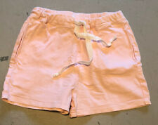 Vale Drawstring Pink Denim Look Shorts, Size 6
