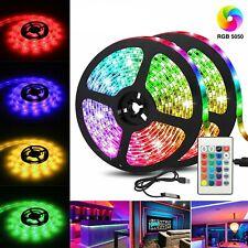 Led Light Strip 2M/6.5Ft Usb Rgb Multi Color Tv Backlight With 24 Key Remote